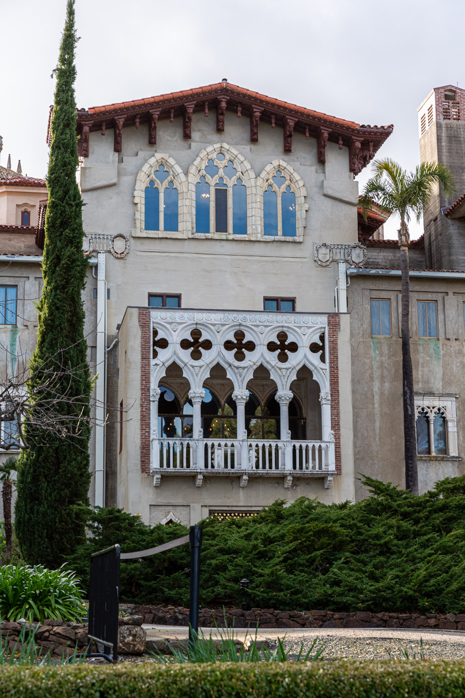 Unfinished Castle Exterior at Hearst Castle