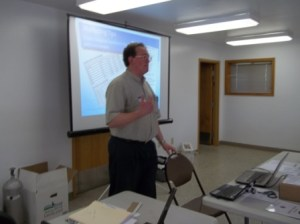 Stephen M. Vantassel speaking at the 2013 NWCOA/UNL Goose Academy in Indianapolis, IN. Photo by Vikki Rawe