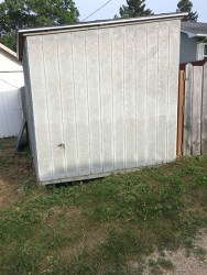 A shed whose foundation allows access for unwanted vertebrate pests. Photo by Stephen M. Vantassel.