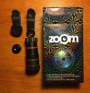 HD 360X Zoom and Macro and Fish Eye Lenses. Photo: Stephen M. Vantassel.