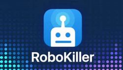 Logo of the RoboKiller App used to stop spam phone calls.