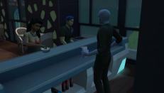 The bartender looks like an alien.