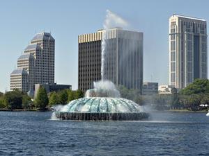 Fountain in Orlando Florida