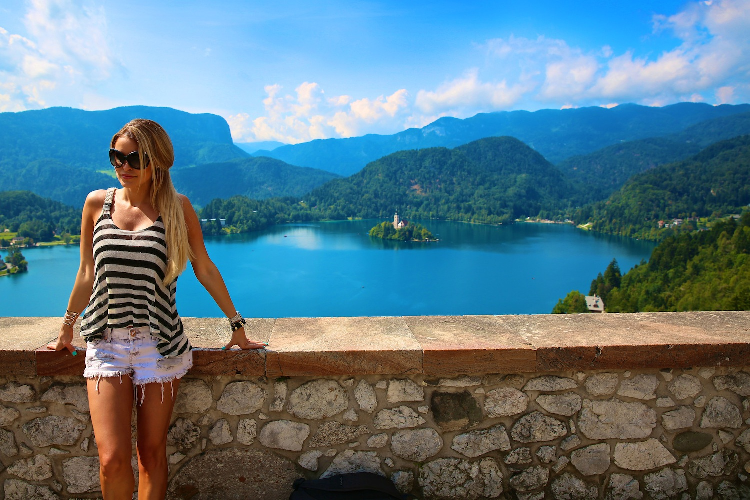 for a marvelous aerial view of lake bled we went up to bled castle
