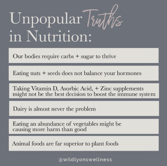 Unpopular Truths in Nutrition