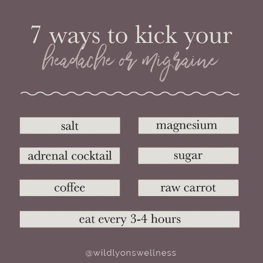 7 Ways to Kick Your Headache or Migraine