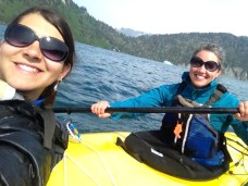 Sea kayaking selfie