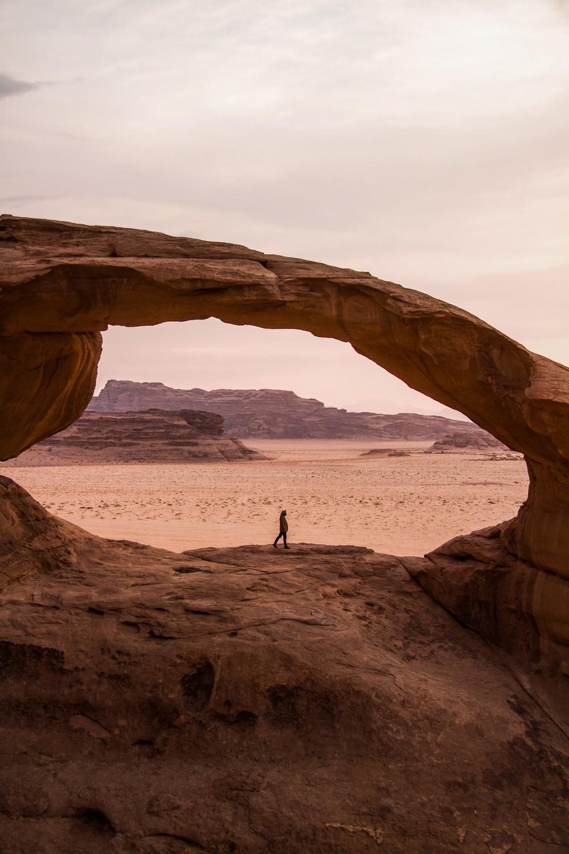 Wadi Rum Desert Landscape Arch