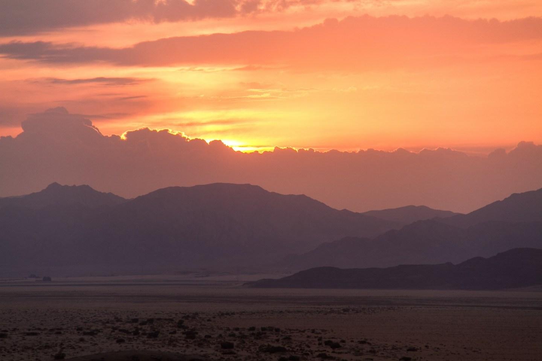 Wadi Rum Desert Landscape Sunset