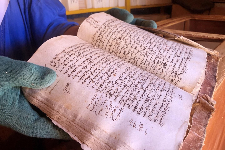 Chinguetti Mauritania Sahara Desert Library books