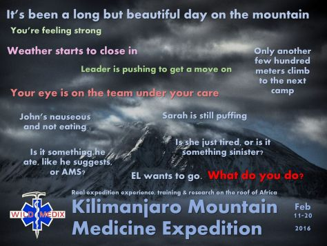 Mountain Medicine Expedition - Questions