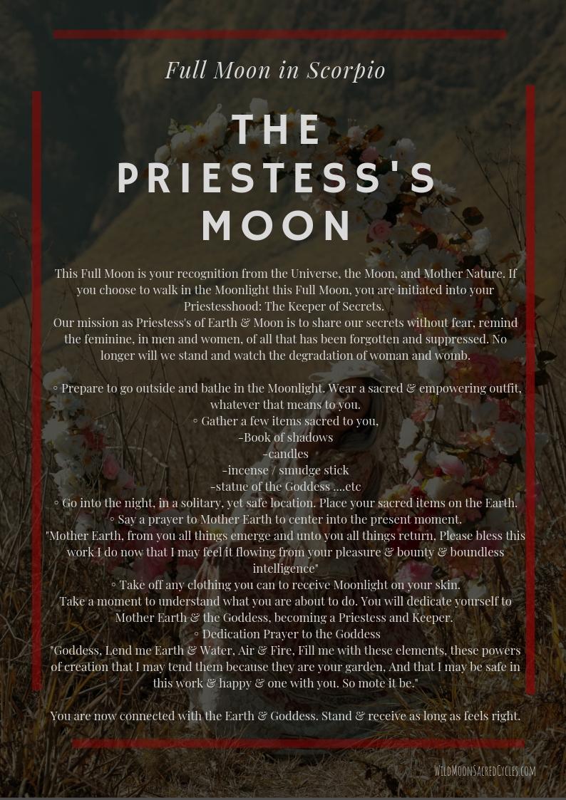 the priestess's moon
