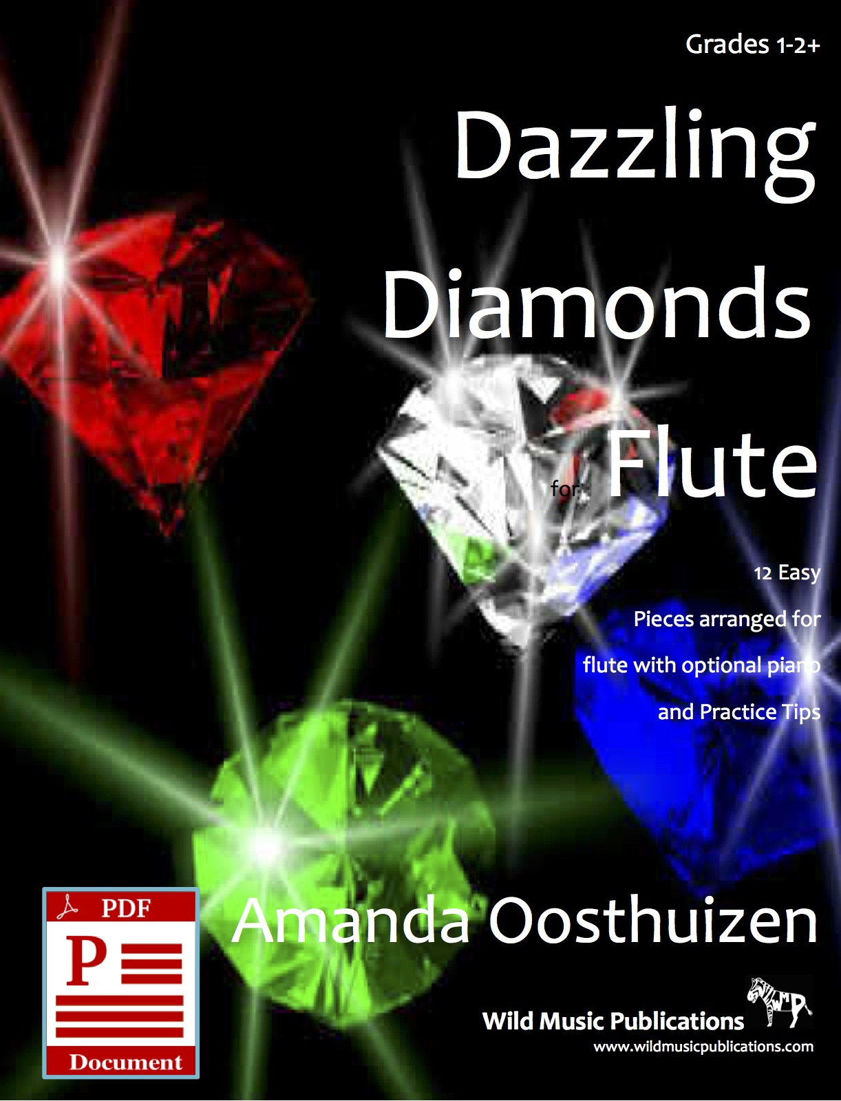 Dazzling Diamonds Easy Flute Book - Wild Music Publications