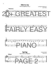20+ Greatest Classics for Fairly Easy Piano Web Sample2