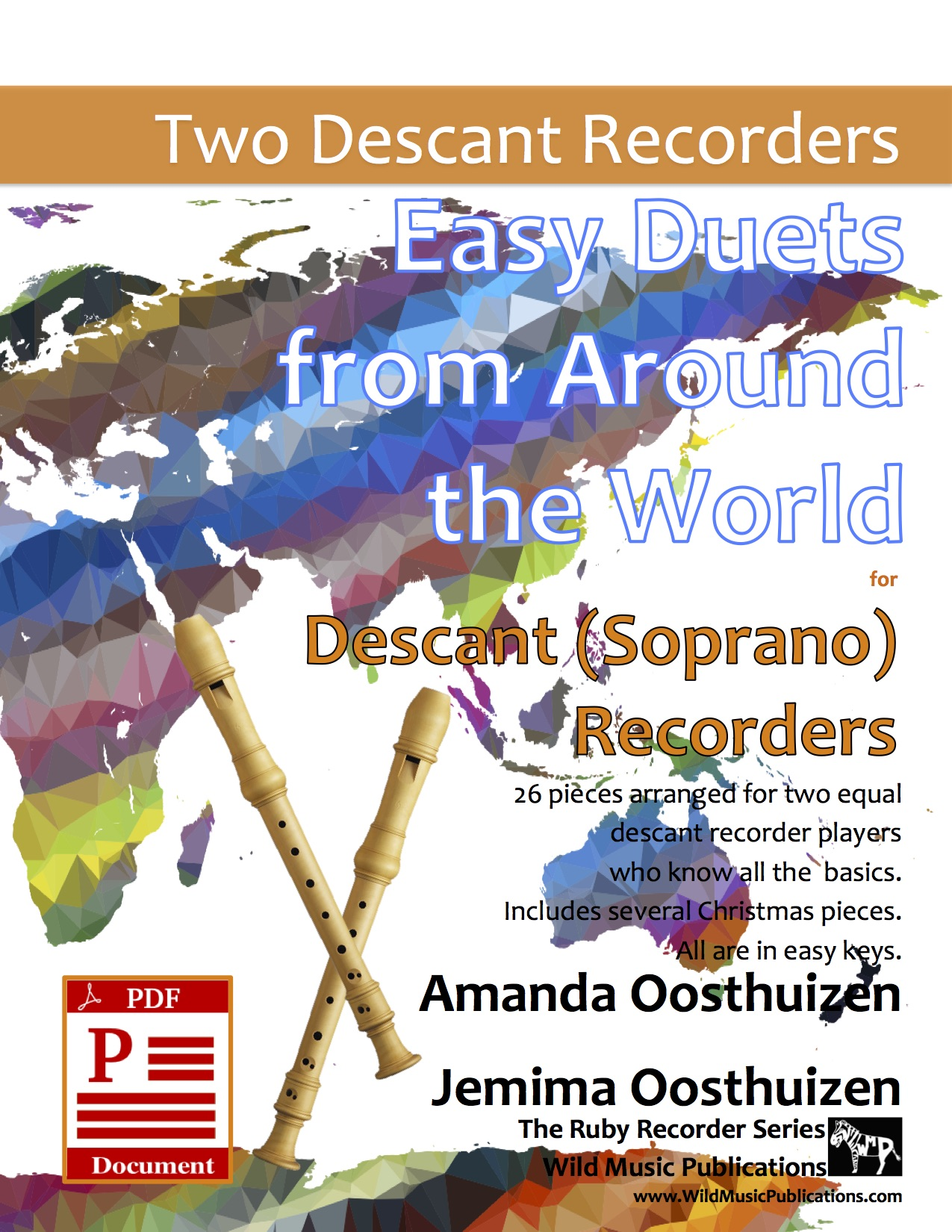 Easy Duets from Around the World for Descant (Soprano) Recorders