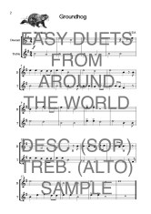 Easy Duets from Around the World for Descant (Soprano) and Treble (Alto) Recorders Web Sample