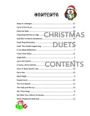 Christmas Duets Bassoons Contents
