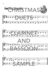 Christmas Duets for Clarinet and Basoon Web Sample