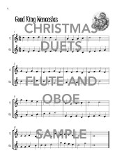 Christmas Duets for Flute and Oboe Web Sample