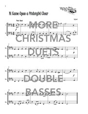 More Christmas Duets for Two Double Basses Web Sample