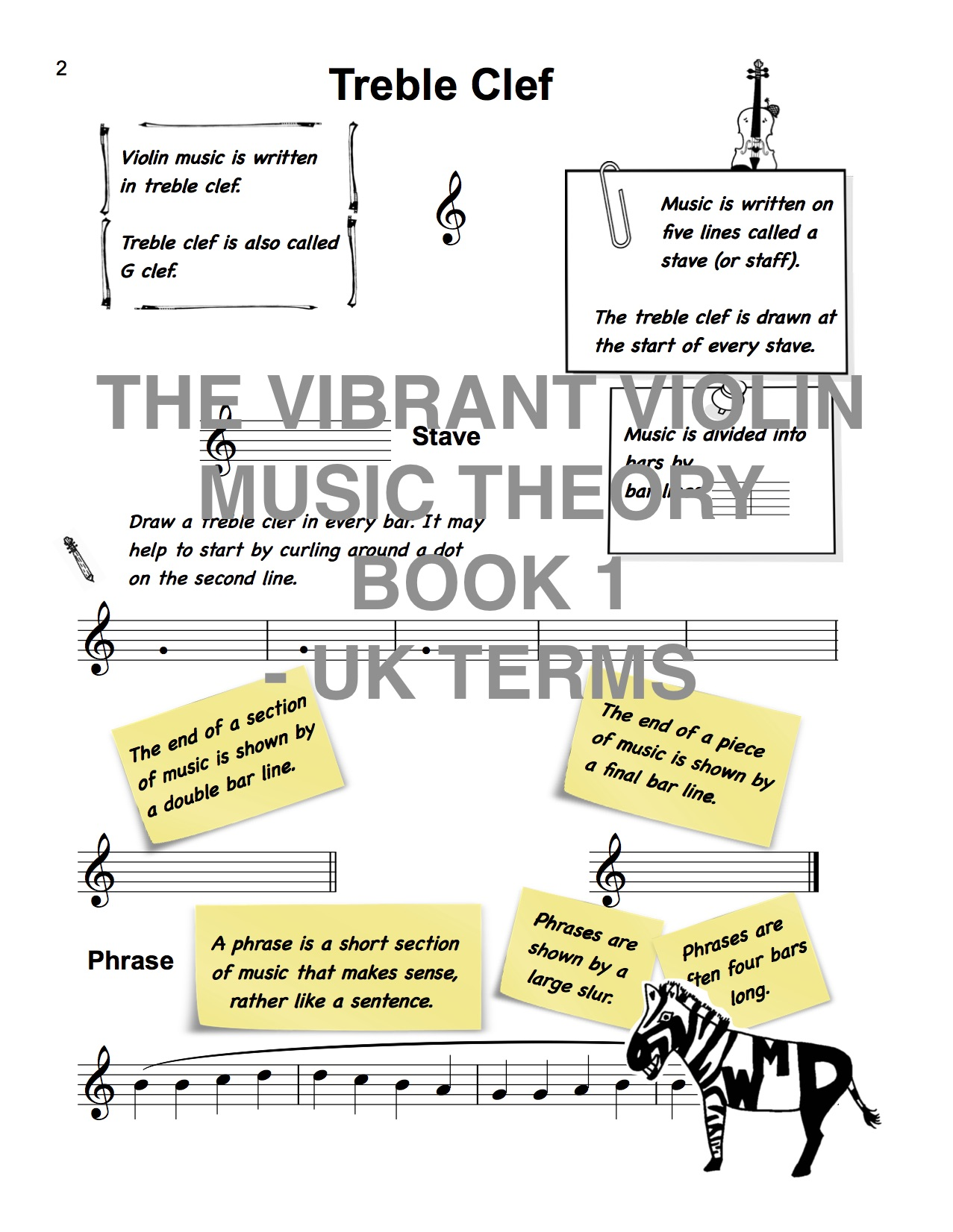 The Vibrant Violin Music Theory Book 1