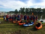 A Large Group of Kayakers
