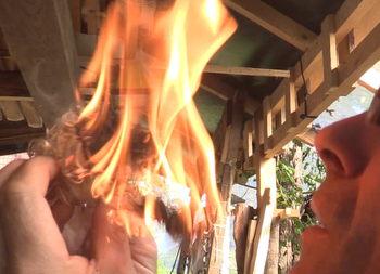 feuerbohrer flamme