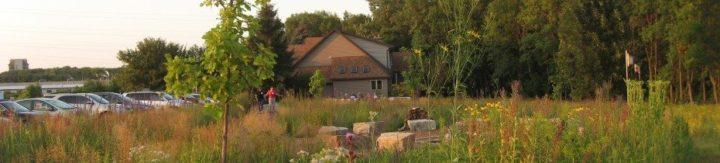 View of WILD Center taken from the prairie.