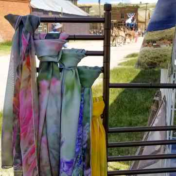 Bodie day 2019 booth wildflower photo scarves mules