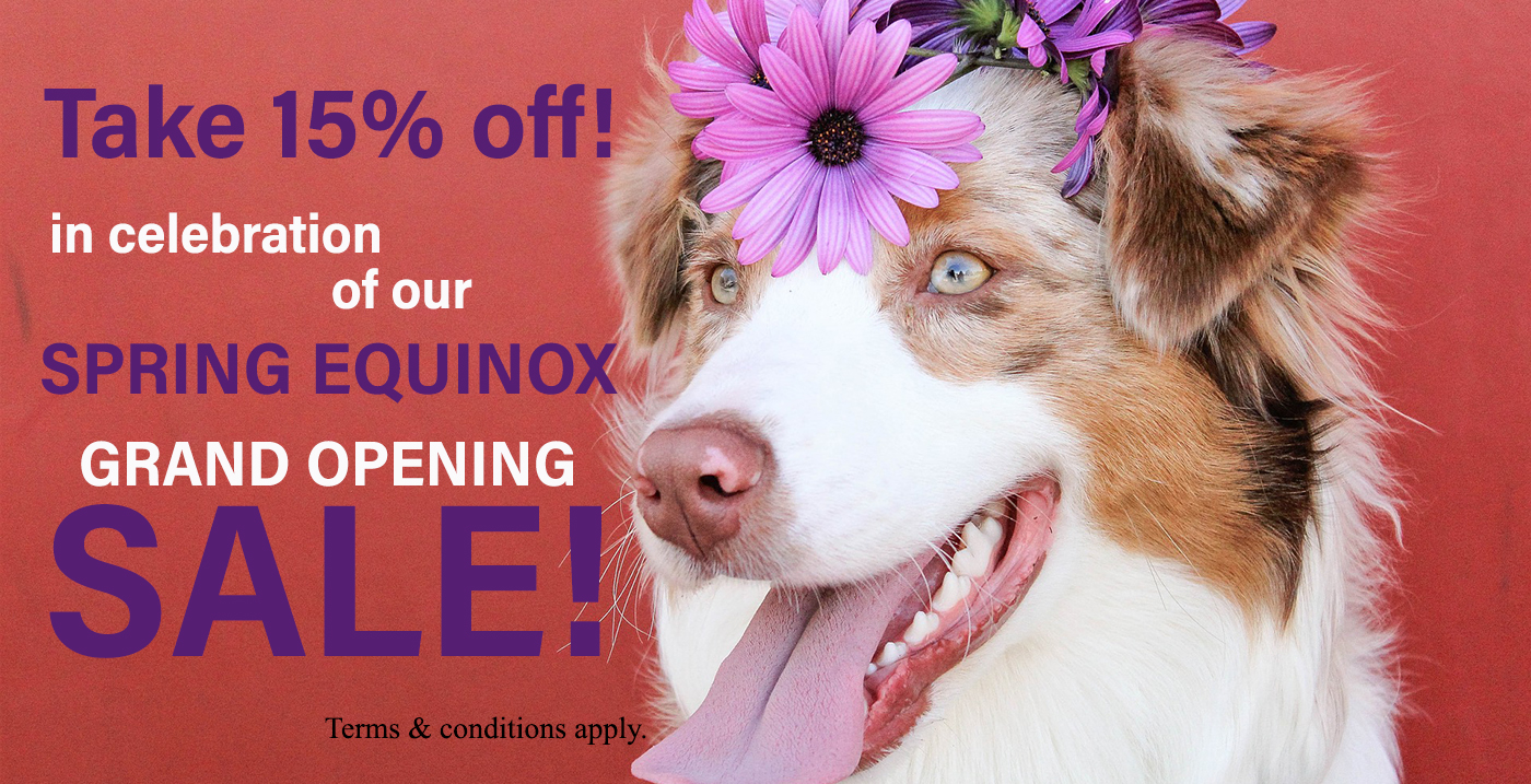 Celebrate our Spring Equinox Grand Opening Sale!