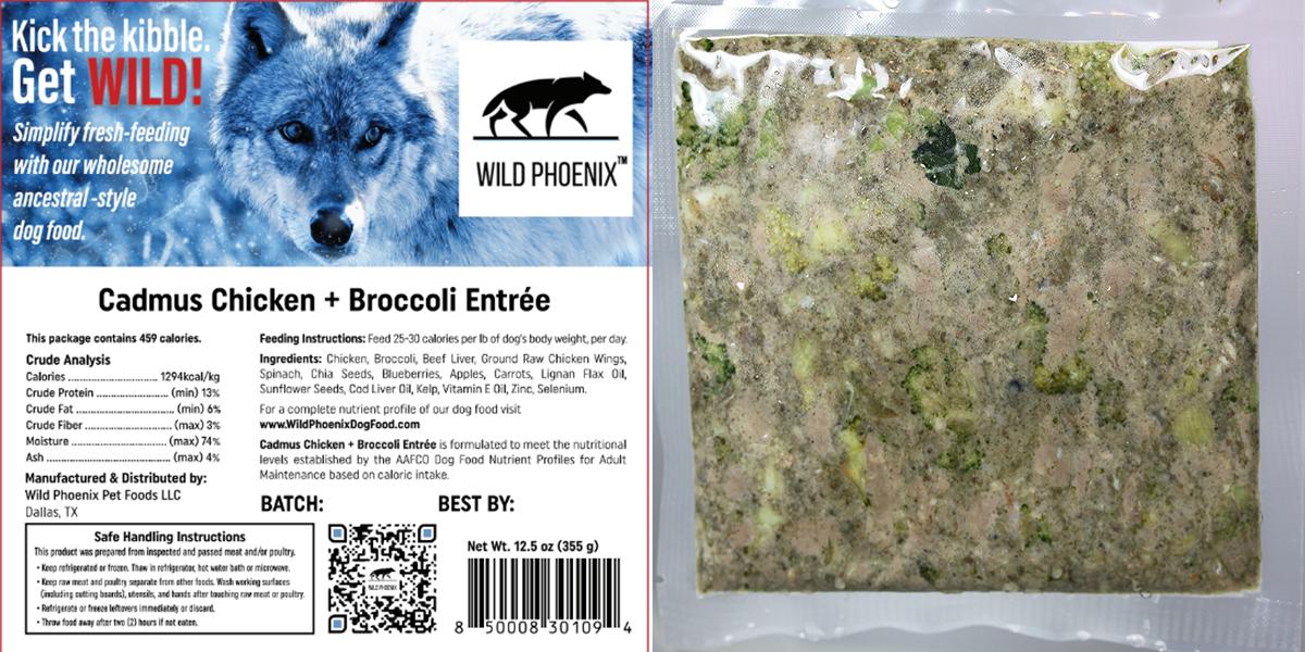 Cadmus Chicken + Broccoli Entrée (12.5oz) Individual Packet