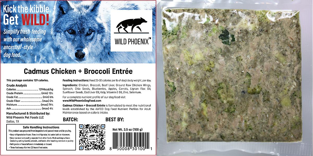 Cadmus Chicken + Broccoli Entrée (3.5 oz) – Individual Packet