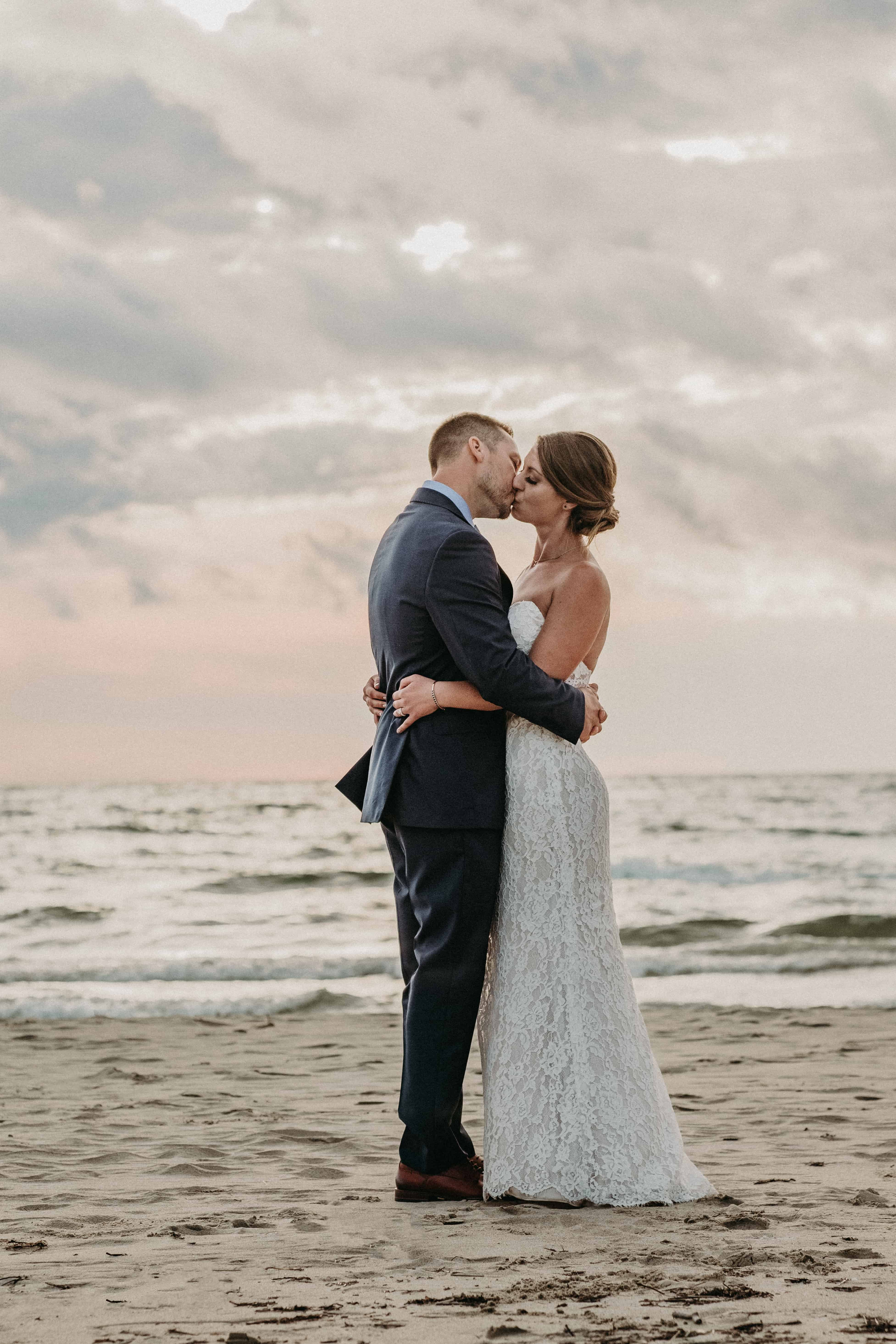 sauble beach cottage backyard wedding beach photos couples session bride and groom