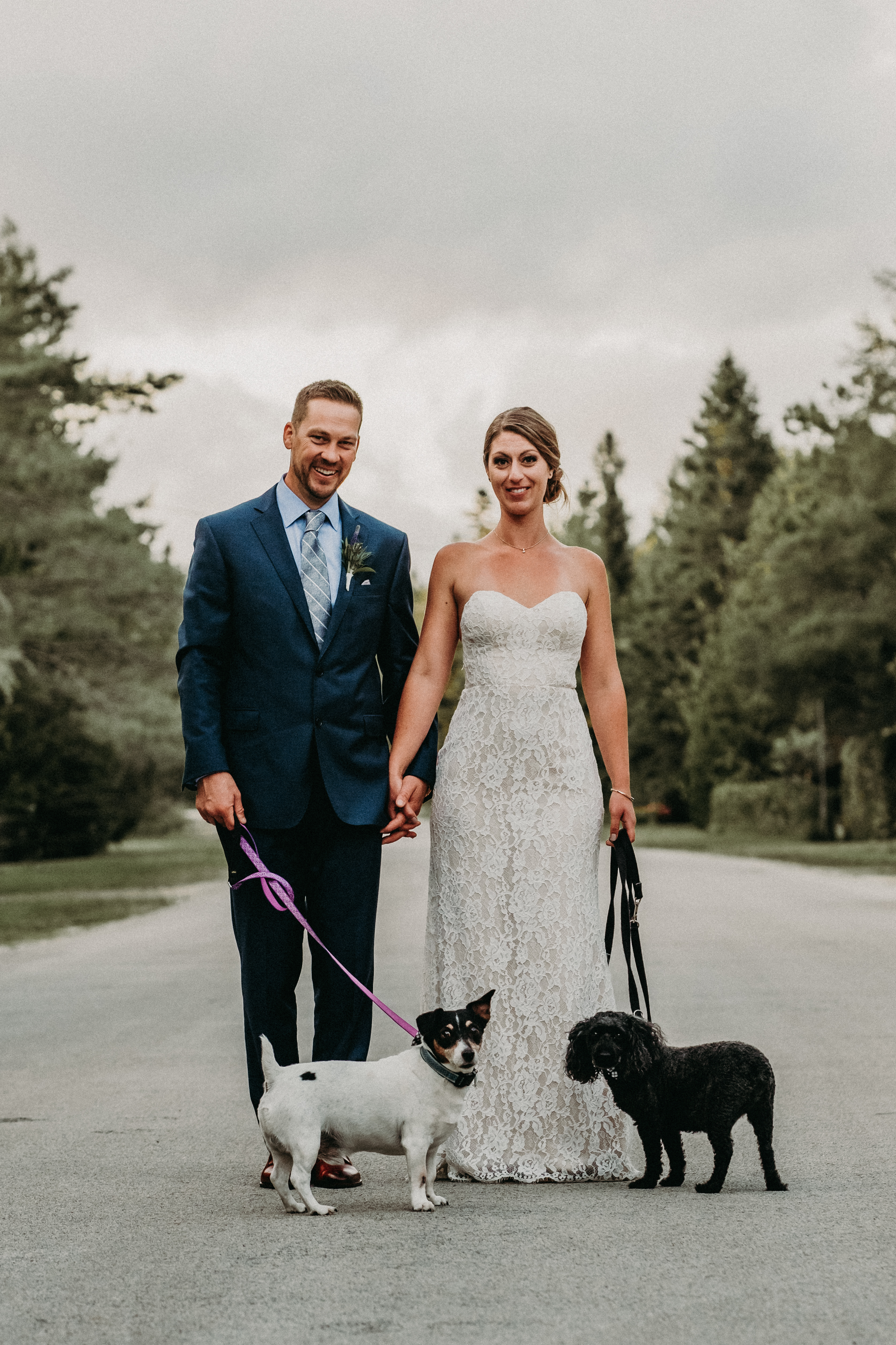 sauble beach cottage backyard wedding beach photos couples session bride and groom and dogs