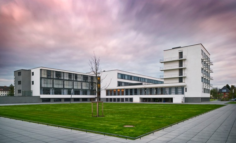The Bauhaus campus in Dessau, Germany.