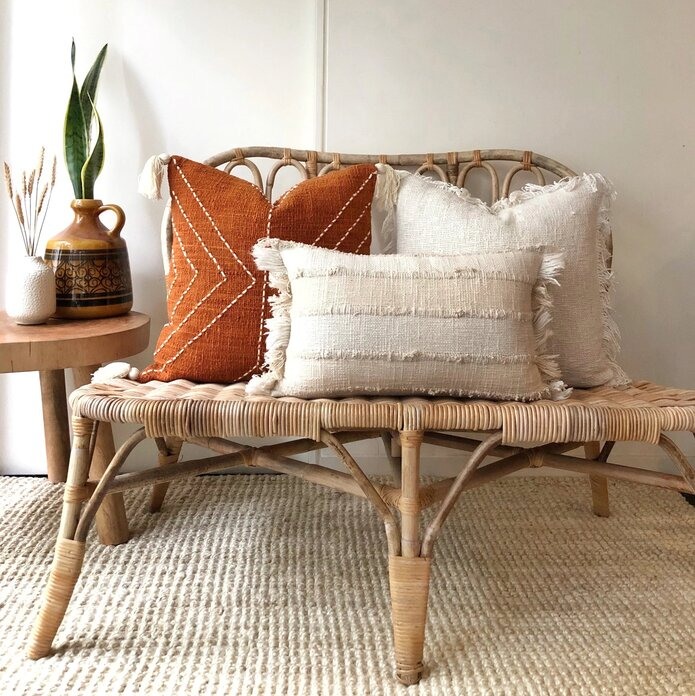 Rattan furniture in a chic living room