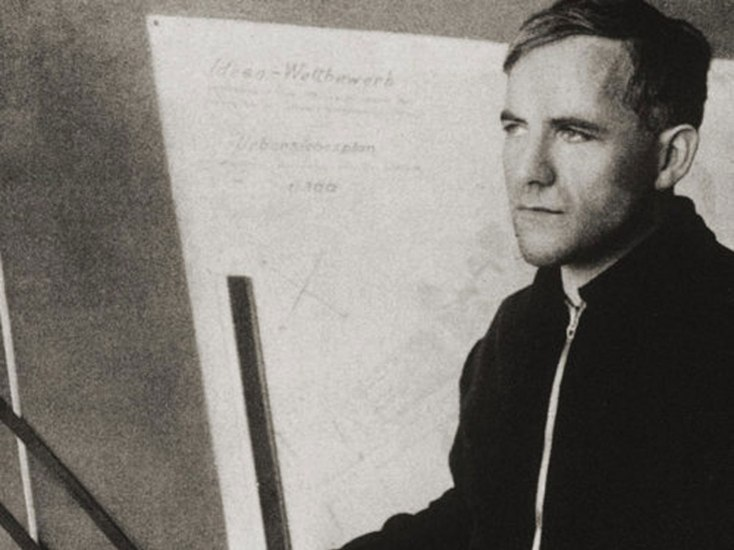 Artist, architect, and teacher Hannes Meyer, as a young man.