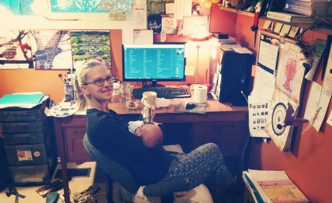 Me & Babe working away!