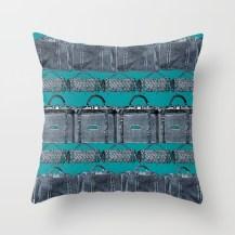 Throw Pillow (blue)