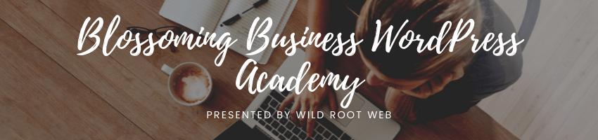 WordPress Academy Course Header