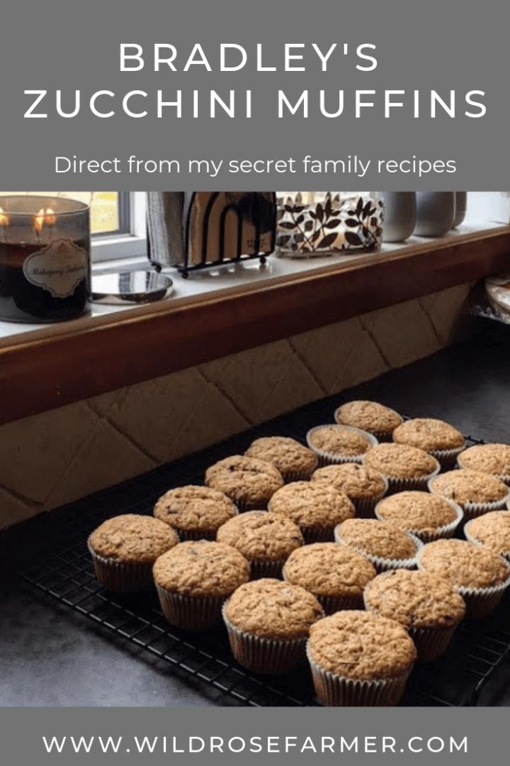 Bradley's Zucchini Muffins