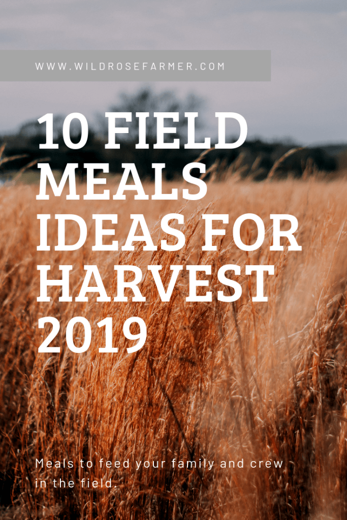 10 Field Meals Ideas for Harvest 2019 | WildRoseFarmer.com