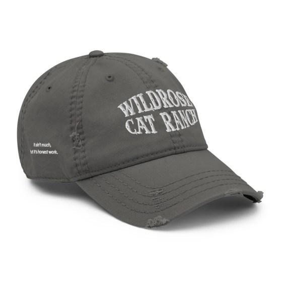 Wildrose Cat Ranch Hat Grey Dad Hat
