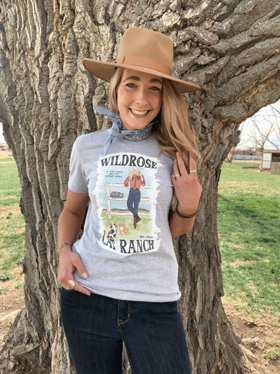 Wildrose Cat Ranch t-shirt Athletic Heather