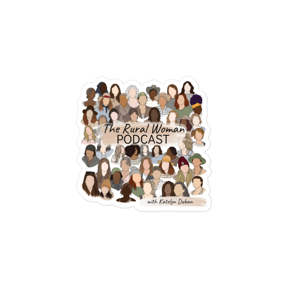 The Rural Woman Podcast Sticker
