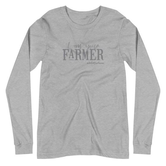 I Am Your Farmer Unisex Long Sleeve Grey
