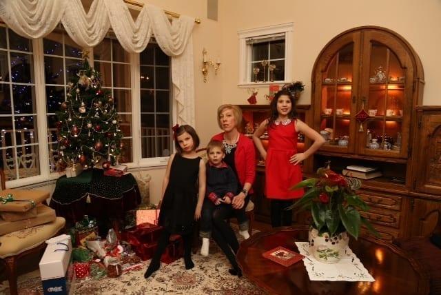 Aimie and kids Christmas Eve