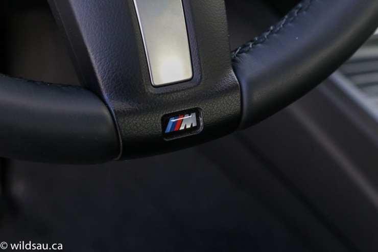 M Sport on steering wheel