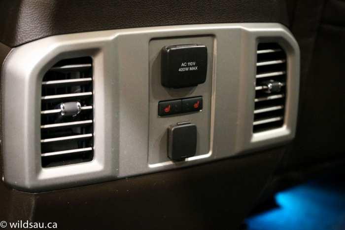 rear seat comfort convenience