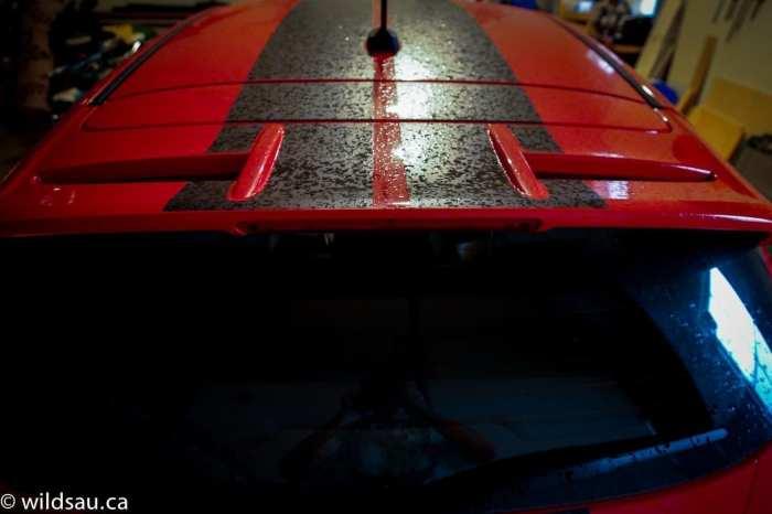 wet roof in garage